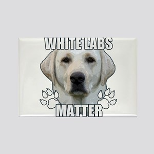 White labs matter Rectangle Magnet