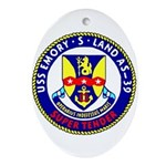 USS Emory S. Land (AS 39) Oval Ornament