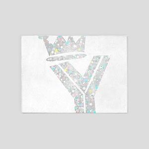 Y, Alfabeto 5'x7'Area Rug