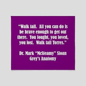 WALK TALL, TORRES! Throw Blanket