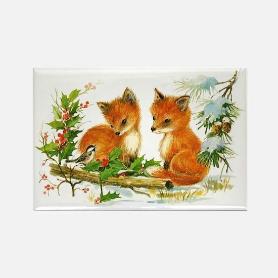 Cute fox Rectangle Magnet