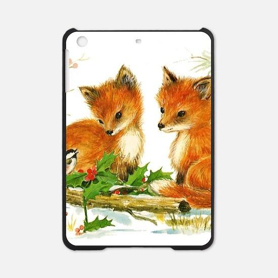 Cute Vintage Christmas Foxes iPad Mini Case