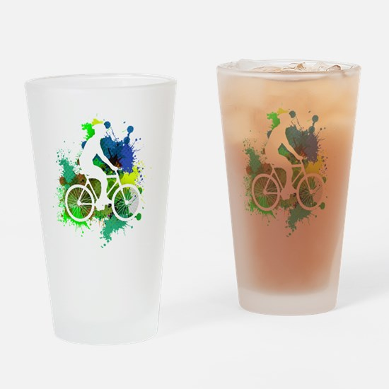 Unique Cycling male Drinking Glass