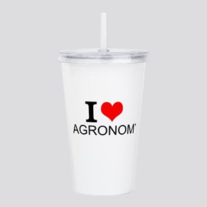 I Love Agronomy Acrylic Double-wall Tumbler