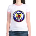 USS Emory S. Land (AS 39) Jr. Ringer T-Shirt