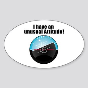 Unusual Attitude Oval Sticker