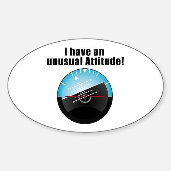 Unusual Attitude Oval Decal
