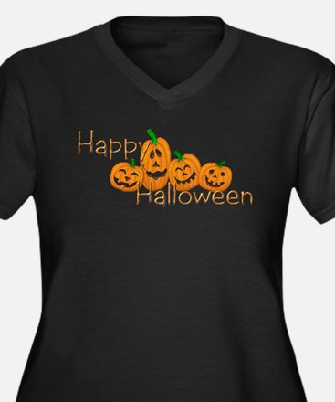 Happy Halloween 2 Women's Plus Size V-Neck Dark T-
