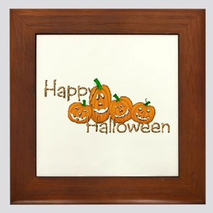 Happy Halloween 2 Framed Tile