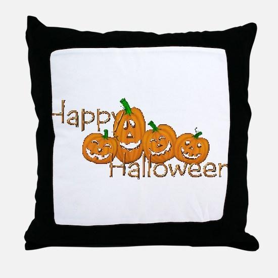 Happy Halloween 2 Throw Pillow