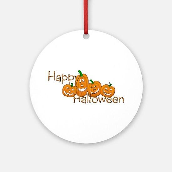 Happy Halloween 2 Ornament (Round)