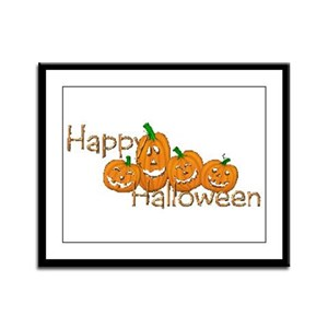 Happy Halloween 2 Framed Panel Print