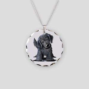 KiniArt Westie Rabbit Necklace Circle Charm