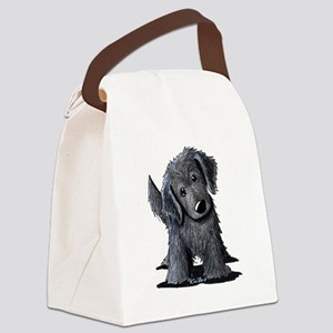 KiniArt Westie Rabbit Canvas Lunch Bag