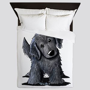 KiniArt Westie Rabbit Queen Duvet