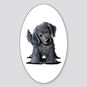 KiniArt Westie Rabbit Sticker (Oval)