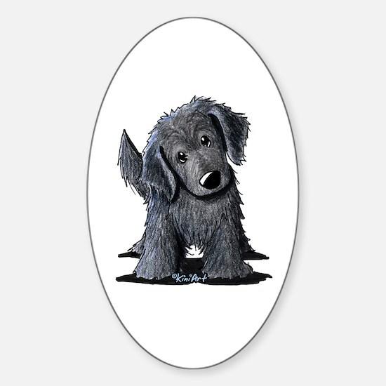 KiniArt Westie Rabbit Sticker (Oval)