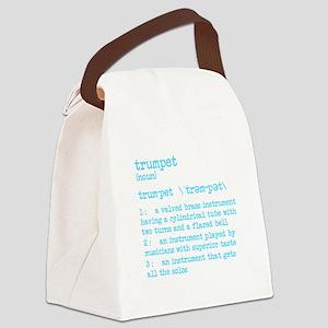 Trumpet Definition Bue Canvas Lunch Bag