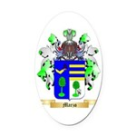Marzo Oval Car Magnet