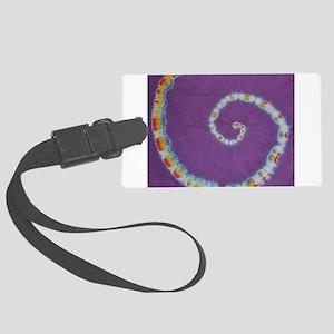 Scorpion Tail Swirl Tie-Dye Luggage Tag