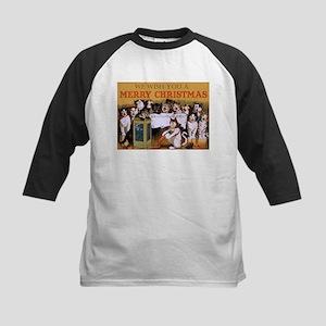 Vintage Cats Christmas Baseball Jersey