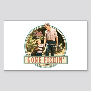 Gone Fishin' Sticker (Rectangle)
