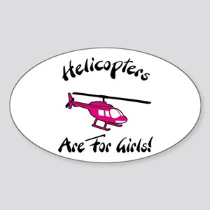 Heli for Girls Oval Sticker