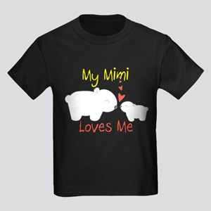 My Mimi Loves Me Kids Dark T-Shirt
