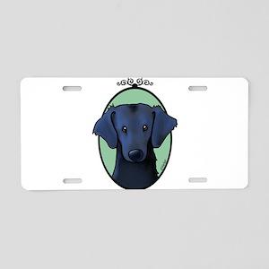 KiniArt Westie Rabbit Aluminum License Plate