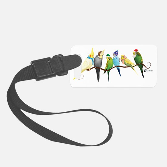 Cute Parrot christmas Luggage Tag