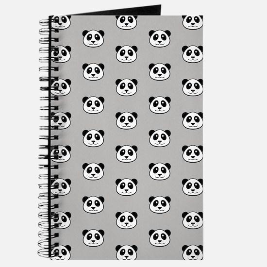 Panda Face Pattern Journal
