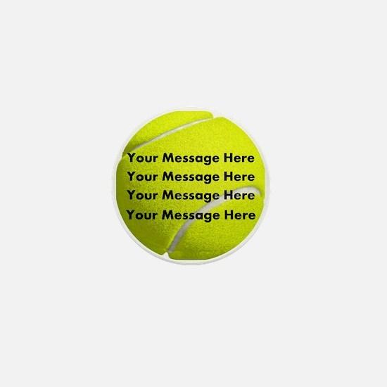 Personalize It, Tennis Ball Mini Button