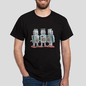 Vintage Robots Dark T-Shirt
