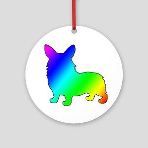 Rainbow Corgis Ornament (Round)