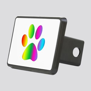 Rainbow Paw Print Hitch Cover