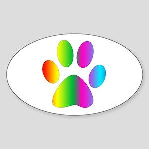 Rainbow Paw Print Sticker