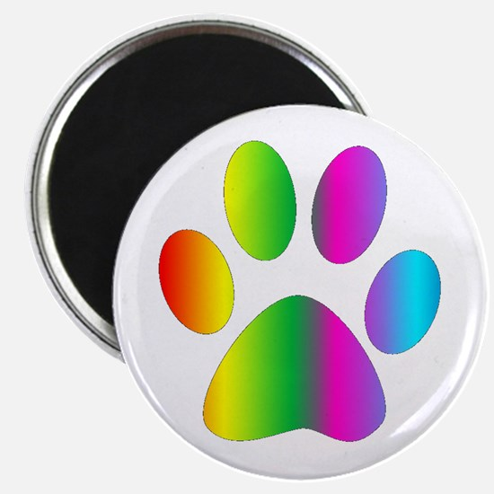 Rainbow Paw Print Magnets