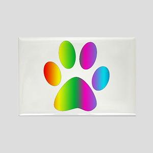 Rainbow Paw Print Magnets