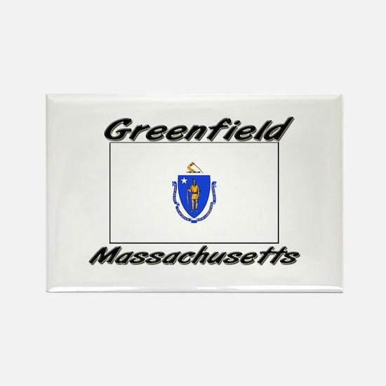 Greenfield Massachusetts Rectangle Magnet