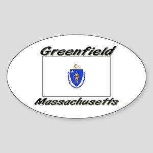 Greenfield Massachusetts Oval Sticker