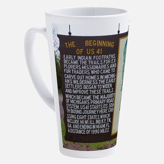 Highway US 41 17 oz Latte Mug