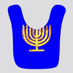 Blue Glowing Chanukah Menorah Guri's Fave Bib