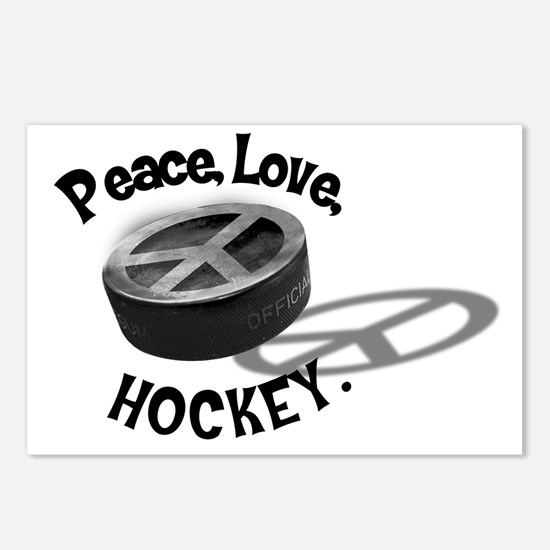 Peace Love Hockey Postcards (Package of 8)