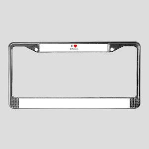 I heart Lebanon License Plate Frame
