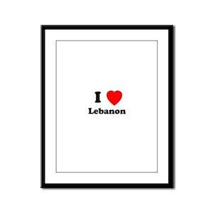 I heart Lebanon Framed Panel Print