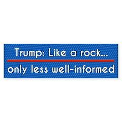 Trump: Like A Rock, But Less Bumper Bumper Sticker