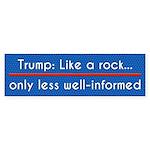 Trump: Like A Rock, But Less Bumper Sticker