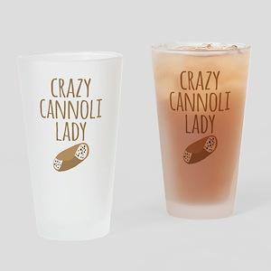 Crazy Cannoli Lady Drinking Glass