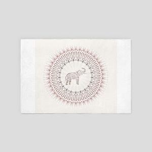 Cream Ombre Elephant Mandala 4' x 6' Rug