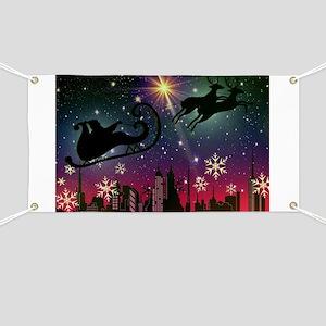 santa claus sleigh Banner